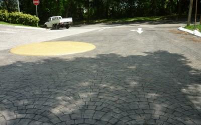 Concrete Imprint Vehicle Traffic