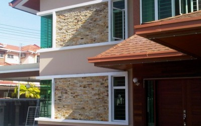 Stone Veneer Home Exterior